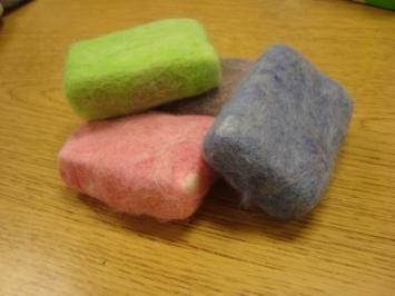 Finished Felted Soap