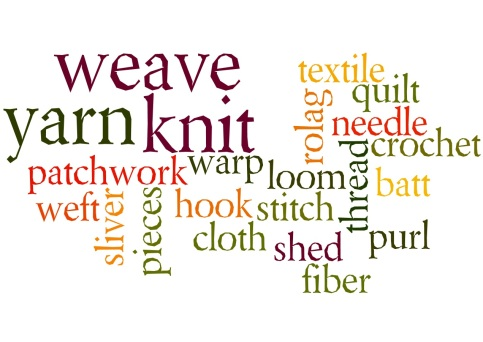 Fiber Art Wordle